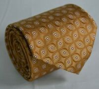Borrelli Napoli Orange Gold Floral Square Woven Print Luxury Neck Tie Silk ITALY