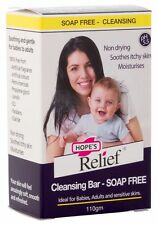 10 X HOPE'S RELIEF SOAP FREE CLEANSING BAR PSORIASIS ECZEMA 110G TOTAL 1100G