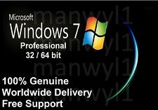 Windows 7 Professional Pro 32 / 64 bit Product Activation License Key Scrap PC