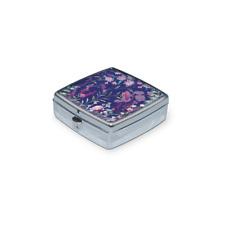 Punch Studio H8 Travel Health Medication Pill Box Case Organizer 2in Wildflowers
