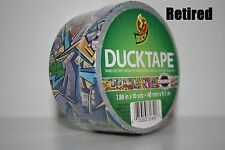 One Roll of Old Graffiti Duck Brand Duct Tape (Retired) // Monsters Brick Color