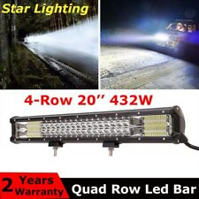 20'' Inch 432W Quad-row Cree LED Light Bar Combo Offroad Driving Lamp Car Truck