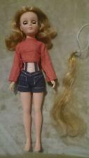 Uneeda Miss Deb #2 Rare Grow Hair Grants Exclusive 1971 Crissy velvet Tressy