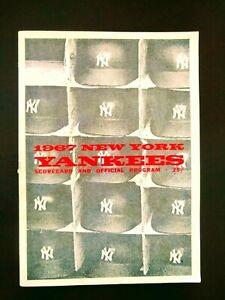 1967 NY Yankees Scorecard & Program + separate Scorecard 9 June 67 vs White Sox
