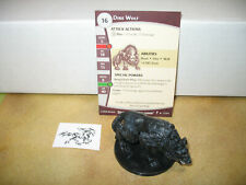 D&D Dungeons & Dragons Dungeons of Dread Dire Wolf with card 37/60