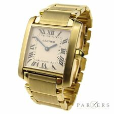 CARTIER TANK FRANCAISE LADIES MID-SIZE 18K GOLD QUARTZ WRISTWATCH W50014N2
