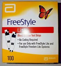 100 Freestyle Lite Glucose Test Strips Dinged Exp 04/2019 - 2020 SHIPS SAME DAY!