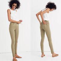 "Madewell 9"" High Rise Skinny Jeans Raw Hem Garment Dyed Edition Denim Size 27"