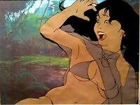 RALPH BAKSHI STUDIOS FIRE & ICE TEEGRA PRODUCTION CEL SETUP COPY BG, MINT FRAMED