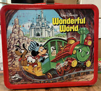 1980 Aladdin Walt Disney's Wonderful World /World On Ice  Metal Lunchbox