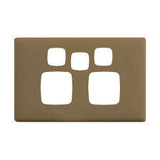 HPM LINEA POWERPOINT COVERPLATE 82x127mm 2-Gang With Extra Hole NINJA KHAKI