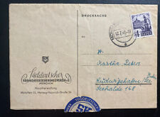 1949 Mohringen Germany Postwar Letter Cover Suddeuscher