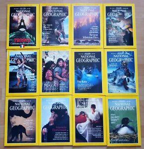 National Geographic 1989 english komplett Sammlung 1-12 Zeitschrift Hefte maps
