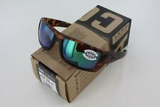 Costa Del Mar Rafael Matte Retro Tortoise Green Mirror 580G Genuine Sunglasses