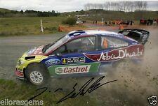 "Rally Driver Jari-Matti Latvala Hand Signed Photo Ford WRC 12x8"" AE"