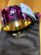 Kate Spade Plum Blossom Bangle NWT Beautiful Stylized Blossoms in Pink & Plum