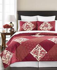 New Martha Stewart Somerset Square Standard Pillow Sham Medium Red $60