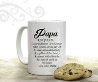 Papa Dictionary Definition Coffee Mug for Grandfather Grandpa 15 oz Coffee Cup