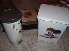 Lot de 2 boites a croquettes pour chien