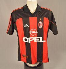 adidas Medium AC Milan Soccer Jersey OPEL 1899 Futbol Italian League Men