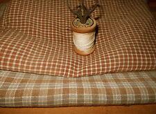 Antique Early Primitive Brown Homespun Cotton Fabric ~