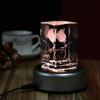 4inch Unique Round Crystal Display Base Stand Holder 4 LED Light 3 Model Switch