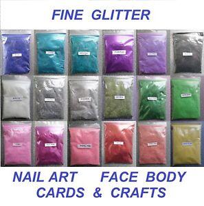 100g - FINE GLITTER - Wedding Glitter Nail Art Cosmetic Face Body Arts & Crafts