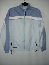 Columbia Packable New Shades of Blue White Full Zip Windbreaker Women Jacket M
