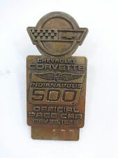 1986 Indianapolis 500 Bronze Pit Badge Bobby Rahal Corvette Indy500