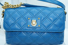 Marc Jacobs The Single Quilted Crossbody Shoulder Bag Blue Handbag Leather