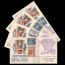 1943 (4) EL SALVADOR TACA Avianca AIRLINES FIRST FLIGHT COVERS