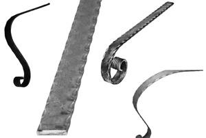 Handlauf-Flacheisen Handlaufanfang 40x6 mm Schmiedeeiserne 003