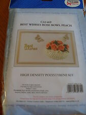 Pinflair Peach Best Wishes Rose Bowl Card Kit