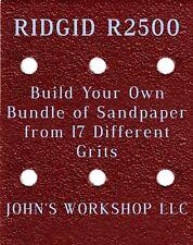 Build Your Own Bundle of RIDGID R2500 1/4 Sheet No-Slip Sandpaper - 17 Grits!