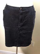 DENIM 24/7 Women's Plus Size 26W Black Stretch Denim Skirt