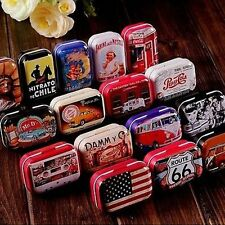 Tin Box Case Can Iron Storage Candy Home USA  Style
