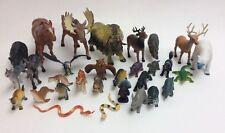 NEW 30 PCS SET NORTH AMERICAN  ANIMALS TOYS EDUCATIONAL FIGURES WILDLIFE  SAFARI