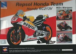 NEW RAY 1:12 MOTO DIE CAST REPSOL HONDA RC213V 2014 MARC MARQUEZ ART 57663