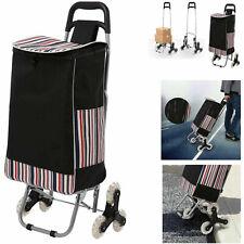 New 2 In 1 Folding Shopping Cartportable Stair Climbing Cart 150lbs Capacity