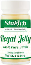 2oz FRESH ROYAL JELLY 100% PURE  NATURAL 60,000mg HIGH STRENGTH POTENCY RAW BEE