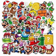 Super Mario Stickers 50 Sticker Decal Lot new
