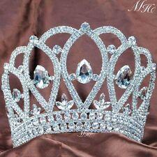 Wedding Brides Crown Tiara Diadem Clear Rhinestone Crystal Pageant Party Prom