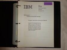 IBM Vintage Series 1 Scientific Subroutine Package Excellent Rare