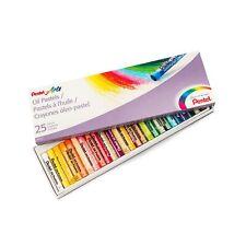 Pentel Arts Oil Pastel Set, 5/16 x 2-7/16 Inch, Assorted Colors, Set of 25