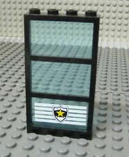LEGO Window 1x4x6 Trans Blue with Star Badge x1PC