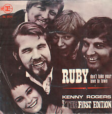 """KENNY ROGERS – Ruby, Don't Take Your Love To Town (1969 SINGLE 7"""" DUTCH PS)"""