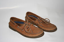 Sperry Top Sider Moc-Toe Loafer Boat Shoes Mens 7M Beige/Brown Leather - 0197640