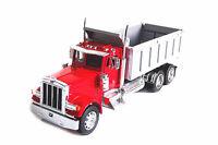 Welly 1:32 Peterbilt 379 Semi Tractor Trailer Dump Truck Diecast Metal Model Toy