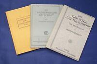 6 Hefte/ Bücher Theosophie 1920-1931 Religion Glaube Christentum Gott js