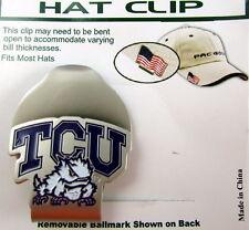 PAC Golf Hatclip w/ Ballmark Ball MarkBallmarker NCAA TCU Horned Frogs